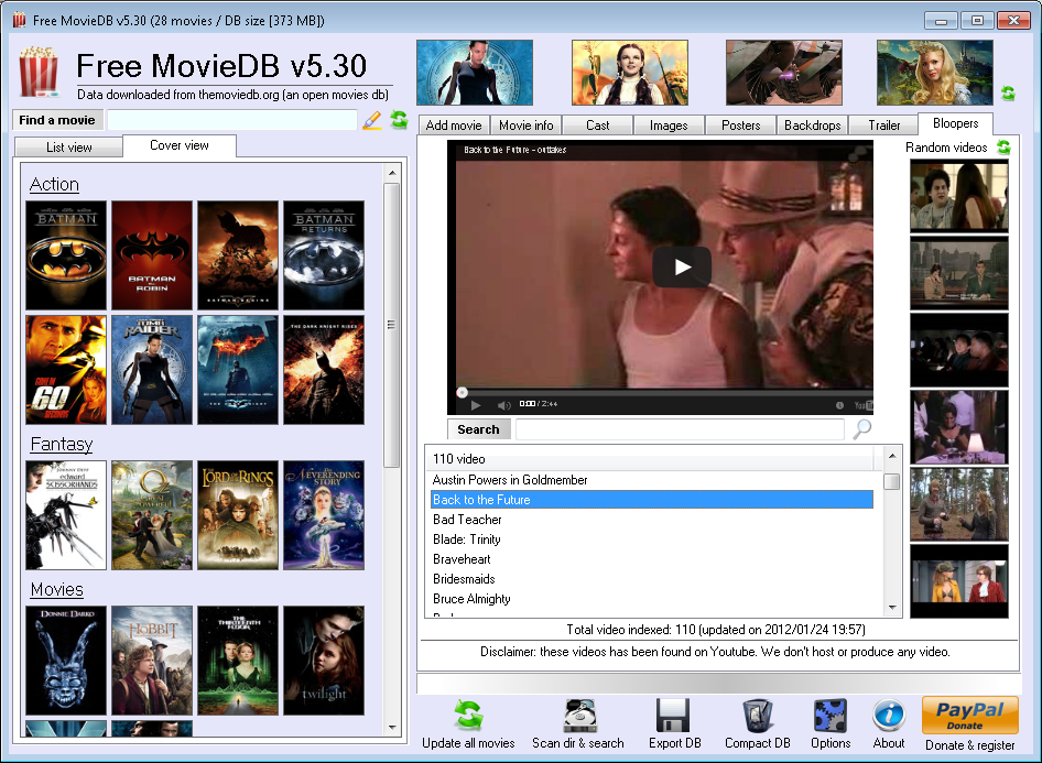 Free MovieDB Movie database software My Portable Software