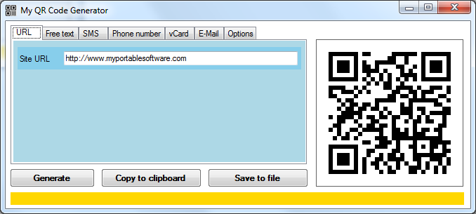 My QR Code Generator | Generate QR code images | My Portable