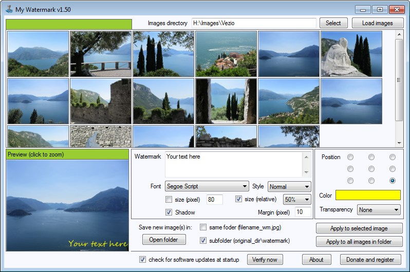 My Watermark   Apply text watermark on images   My Portable