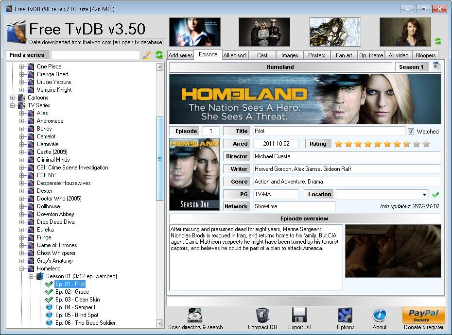 Full Free TvDB screenshot
