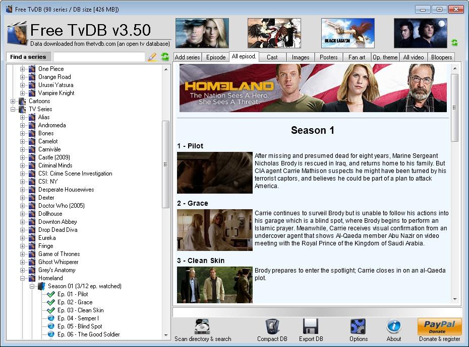 Free TvDB screenshot